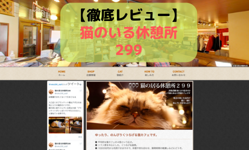 【徹底レビュー】(池袋)猫の居る休憩所 299(にくきゅう)を体験レポート!
