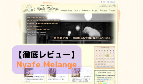 【徹底レビュー】Nyafe Melange (ニャフェ・メランジェ)を体験レポート!